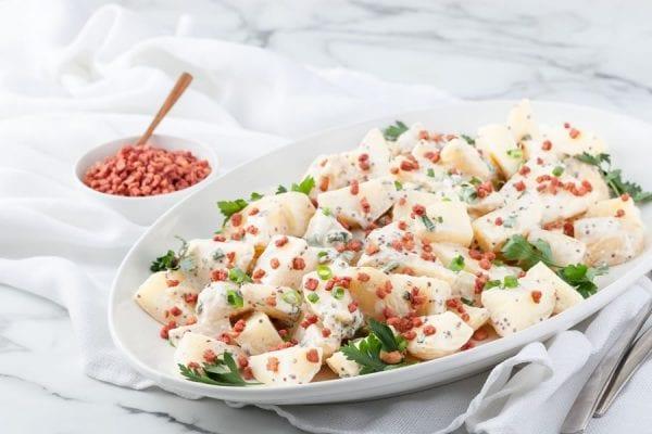 Potato-salad-topped-bacon-bits