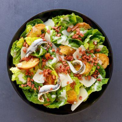 Caesar Salad with Bacon Bits